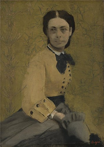 Oil Painting 'Hilaire Germain Edgar Degas Princess Pauline De Metternich' 18 x 25 inch / 46 x 65 cm , on High Definition HD canvas prints is for Gifts And Foyer, Home Office And Powder Room Decoration