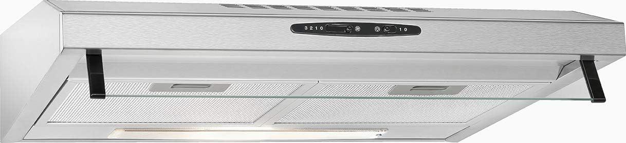 Bomann DU623 IX - Campana extractora 60 cm, recirculación de aire o por conducto, 3 niveles potencia, filtros extraibles de aluminio lavables, acero inoxidable: Amazon.es: Grandes electrodomésticos