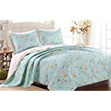 Barefoot Bungalow GL-1610MMST Cherry Blossom Quilt Set, 2 Piece Twin