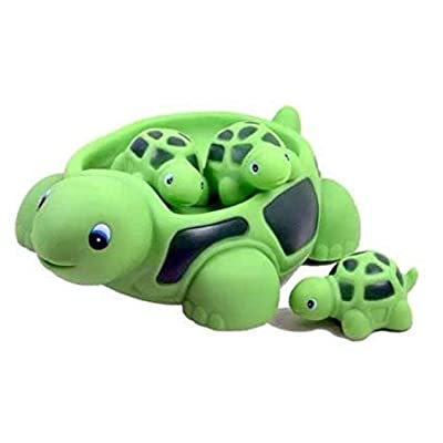 Playmaker Toys Turtle Family Bath Sets(set of 4) - Floating Bath Tub Toy : Baby