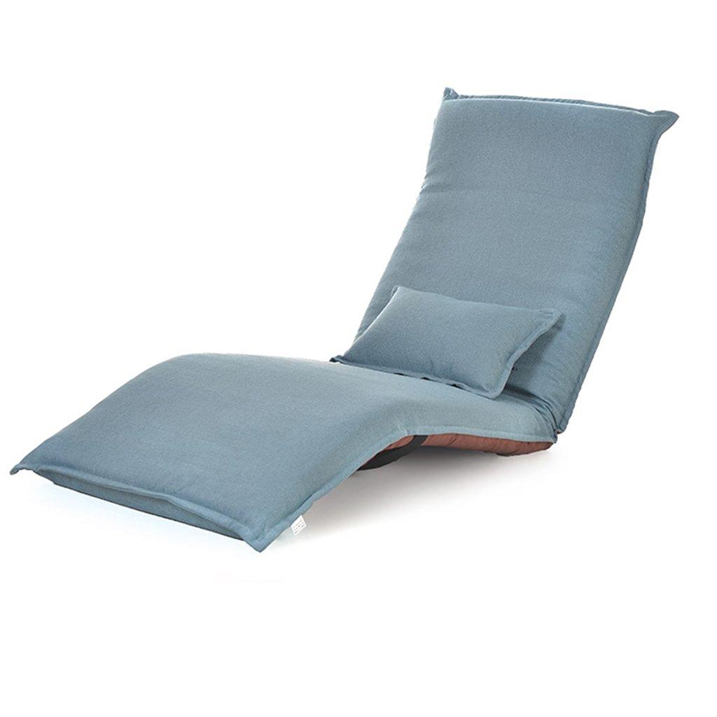 Lazy Sofa Individual Bay Fenster Stuhl Klappbett Boden Recliners Home Computer Stuhl (Farbe : Lake Blau)