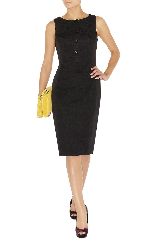 Karen Millen black embroidered dress DN013 rrp 锟