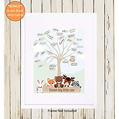 VANYUC CREATIONS Woodland Baby Shower Decorations - Welcome Banner for Boy or Girl  Gender Neutral Theme Party Supplies  Rustic Forest Decor Kit  Fox  Bear  Animal Creatures Set  Paper Fans  Unique Keepsake Guest Book Registr