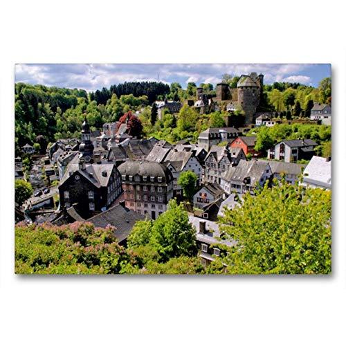 CALVENDO Toile de qualité supérieure 90 cm x 60 cm, Motif Burg Monschau | Tableau sur Toile sur châssis | Impression sur Toile véritable | Orte