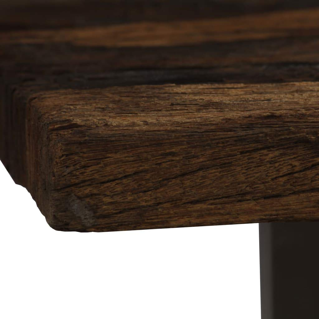 vidaXL Tavolo da Pranzo in Legno di Traversina e Acciaio 118x55x76 cm Tavola