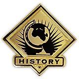 PinMart's Black and Gold History Student School Teacher Lapel Pin