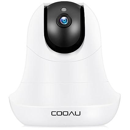 COOAU - Cámara de seguridad Wifi, 1800P HD, sin hilos ...