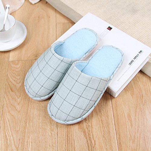 latte3 la pantofole di inverno anti In Giappone in DogHaccd Verde cotone amanti indoor e Baotou di e gli Rok di slip autunno pantofole il home di pantofole griglia moda ngxSSPXRf