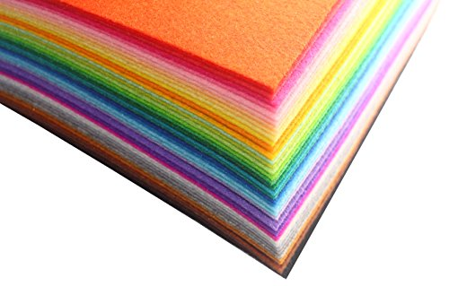KK-BZB 40Pcs DIY Felt Nonwoven Fabric Sheet, 5.9 5.9 inches (15CM X 15CM), Approx 1.0 mm(0.04 inch) Thick , Assorted Color Felt Pack Craft Work 40 Colors Squares, DIY Craft Squares KK-BZB (Christmas Sewing Projects compare prices)