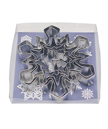 Snowflake Cookie Recipe - R&M International 1989-02 Snowflake Cookie Cutters, Assorted Designs and Accents, 8-Piece Set