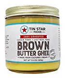 Tin Star Foods Grass Fed Brown Butter Ghee 8 oz (Pack of 2)