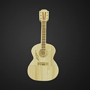 pumaple Creative Music guitarra U Disk instrumento en madera guitarra eléctrica USB Flash Drive USB3.0, 8 GB: Amazon.es: Electrónica
