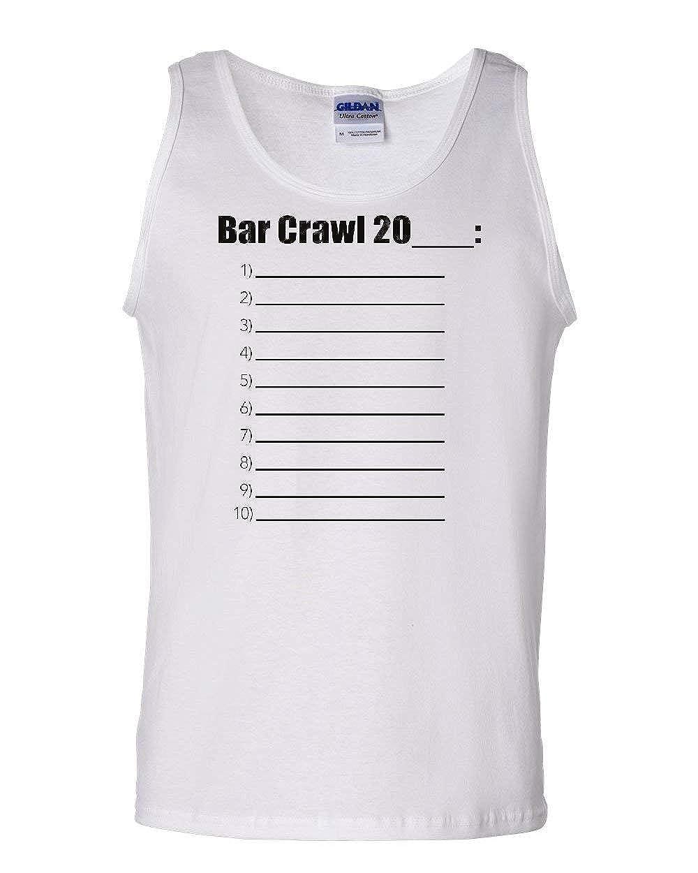 Bar Crawl 20/_ Check List Tank Top Drinking College Beer Booze Sleeveless