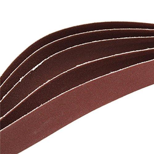 Letbo New 5pcs 106x2.5cm 240 Grit Alumina Sanding Belts Self Sharpening Oxide Abrasive Strips
