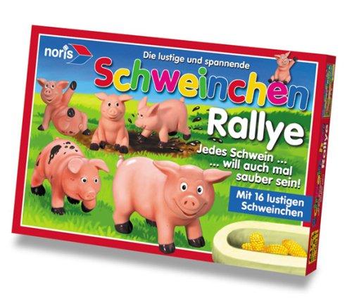 Noris Spiele 606013735 - Schweinchen Rallye, Kinderspiel