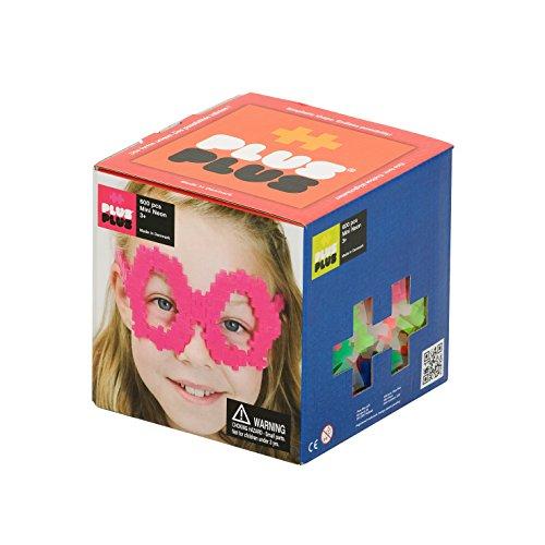 - PLUS PLUS - Construction Building Toy, Open Play Set - 600 Piece - Neon Color Mix