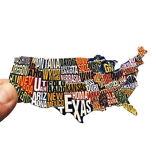 CHOP MALL American Magnets United States Map Refrigerator Magnets Office - Anaheim In Malls