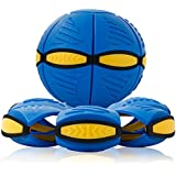 UFO Magic Ball Throw Deformation Magic Flying Discs Kids Toy Outdoor Soccer Game (Blue)