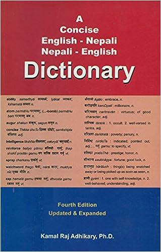 Concise English-Nepali /& Nepali-English Dictionary with Transliteration