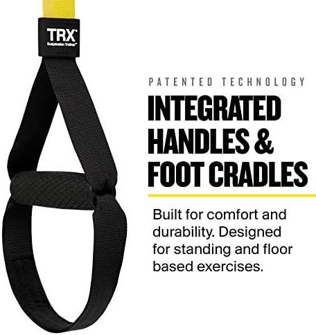 TRX PRO sistema de entrenamiento de suspensión diseño y durabilidad | incluye tres soluciones de anclaje, 8 entrenamientos de vídeo y programa de ...