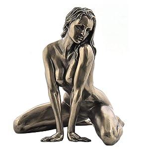5 Inch Figure Female Nude on Floor Straddling Arm Display Decor
