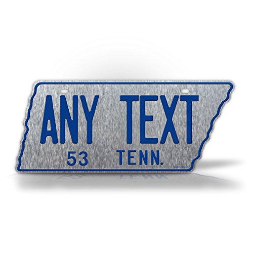 - SignsAndTagsOnline 1953 Reproduction Tennessee State Shaped License Plate Customized Antique Replica Personalized TN Auto Tag