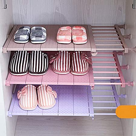 mensola da cucina per armadio Organizer regolabile salvaspazio da parete 29-46cm bianco