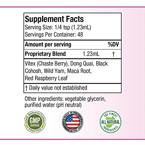 Balanced Femme - Herbal PMS and Menopause Support   All-Natural Liquid for 2X Absorption   Vitex, Dong Quai, Maca Root & More! by Balanced Femme (Image #1)