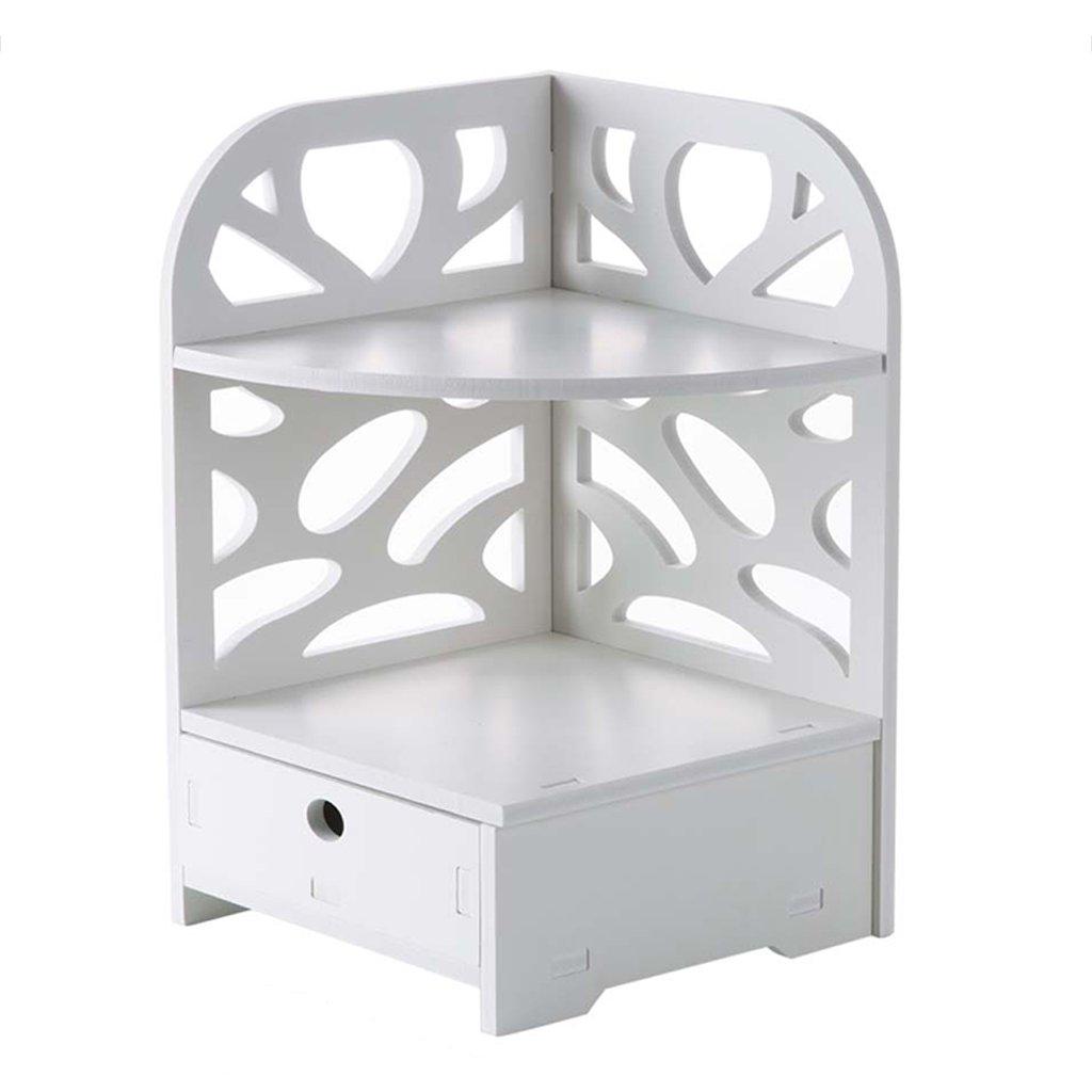 NUBAOgs Wood Plastic Panel Rack With Drawer Multi-layer Tripod Bathroom Bathroom Corner Storage Rack