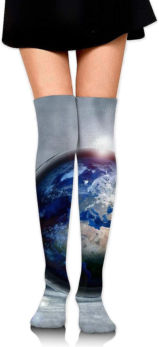 Kjaoi Girl Skirt Socks Uniform Light Bulb Earth Women Tube Socks Compression Socks