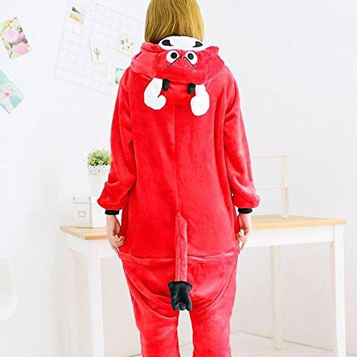 Svago xl Pigiami Unisex Cosplay Adult Piece Usura Inverno Animale pigiama One Di Deed Ispessimento Rosso Costume Peluche EOadEq