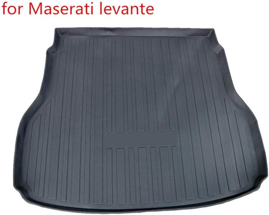 su Misura Bagagliaio Posteriore Tappetino Antiscivolo Impermeabile YCGLX Auto Nero Gomma Tappeto Baule Bagagliaio per Maserati Levante