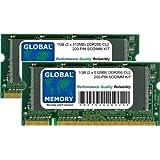 1Go (2x 512Mo) DDR 266MHz PC2100200-pin SODIMM mémoire RAM Kit pour ordinateurs portables/ordinateurs portables
