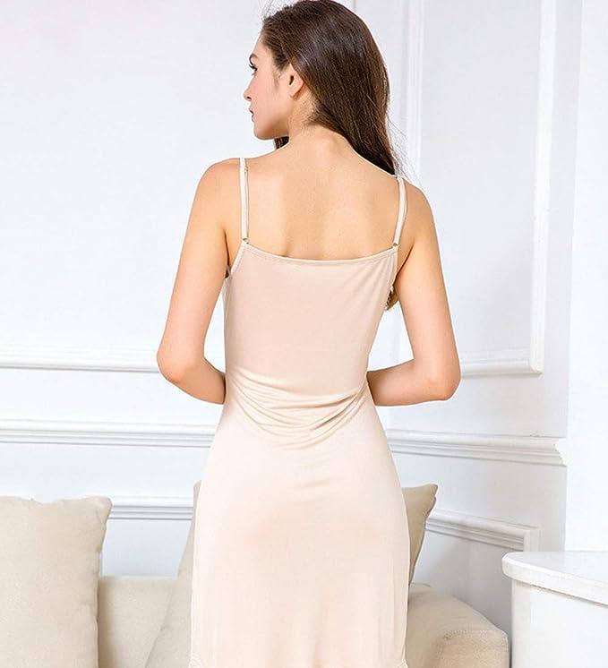 Kivie Fond De Robe Noir Blanc Nue Reglables Bretelles Coton Jupon Pour Femme Nexusfn Com Br