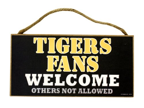 Missouri Tigers Fans Welcome Wood (Tigers Hanging Sign)