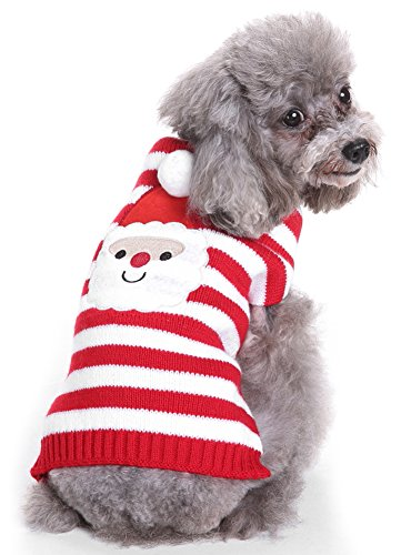 MaruPet Puppy Dog Ribbed Knit Sweater Knitwear Turtleneck Toxic Kintted Doggie Hoodies Apparel for Small Dog