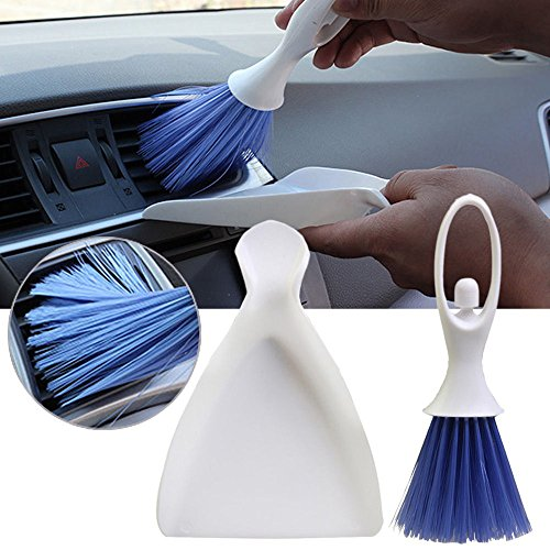 ♛Euone Brush Dustpan ♛Clearance♛, Mini Car Dashboard Vent Cleaner Tool Keyboard&Air Outlet Armrest Brush Dustpan