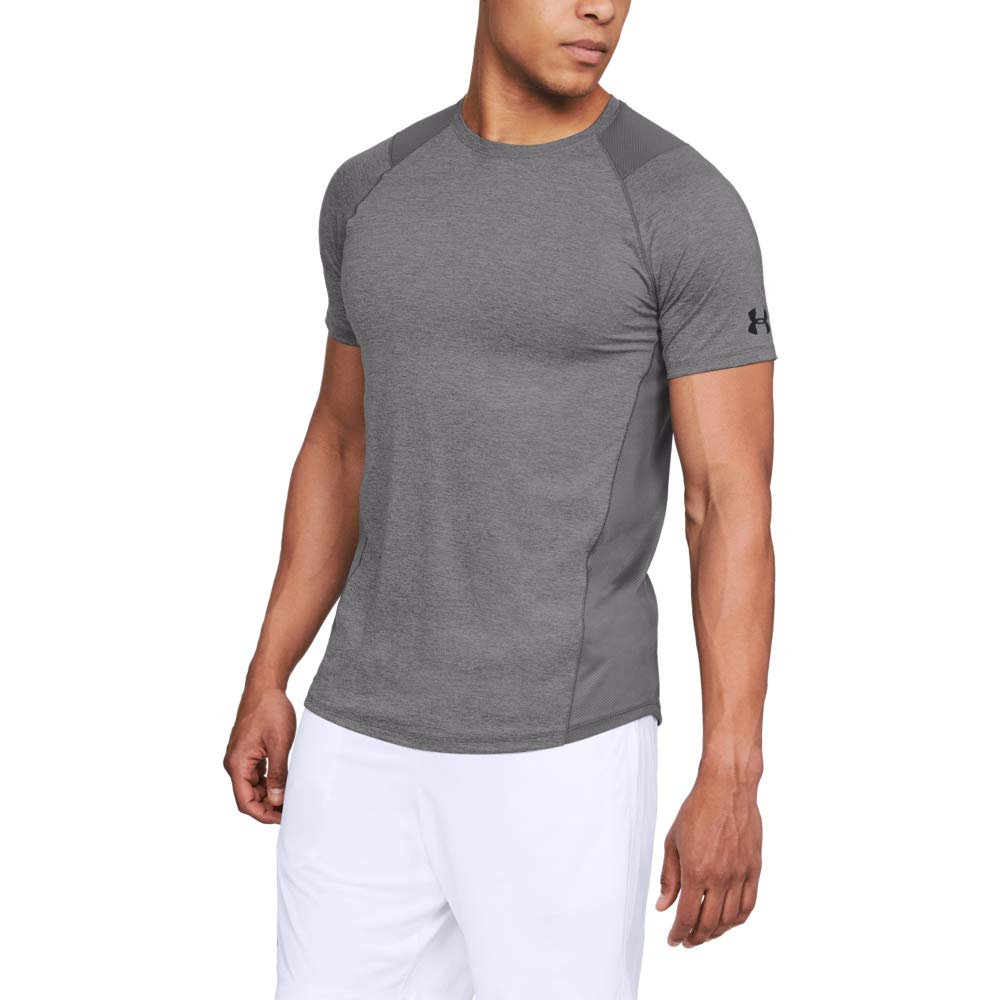 Under Armour Men's MK1 Short Sleeve T-Shirt, Charcoal (019)/Black, 3X-Large Tall by Under Armour
