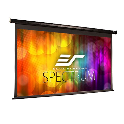 (Elite Screens Spectrum Electric Motorized Projector Screen with Multi Aspect Ratio Function Max Size 100-inch Diag 16:9 to 95-inch Diag 2.35:1, Home Theater 8K/4K Ultra HD Ready Projection, ELECTRIC100H)