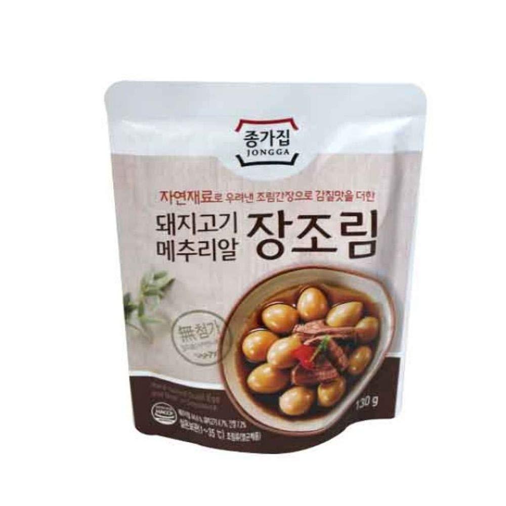 Hard Boiled Pork & Quail Egg in Soysauce 130g, Product of Korea 장조림