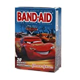 Band-Aid - Childrens Adhesive Bandages, Disney Pixar Cars, Assorted Sizes 20 ea