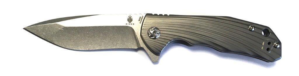 Kizer Cutlery - Klappmesser - Klingenlänge    7.62 cm - Shoal M390 Grooved Handle B07D553VNV Klappmesser Liebessport, wirklich glücklich 92cfbf