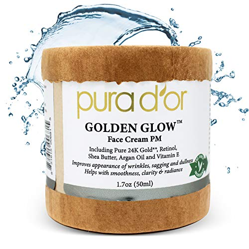 51sUc5yh4bL - PURA D'OR Golden Glow Face Cream PM - Anti Aging Face Cream With Pure 24K Gold for Firmer Skin, Reduced Appearance of Wrinkles and Increased Appearance of Brighter Skin (1.7oz)