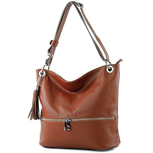 d'épaule sac cuir ital sac dames en modamoda sac cuir de épaule T143 en Cognac 0xgwqnvUIF