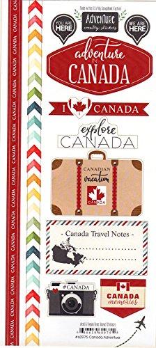 Canada Adventure Cardstock Scrapbook Stickers - Scrapbook Canada Stickers