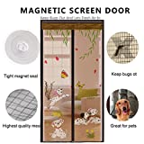 DULPLAY 3d frame velcro Magnetic screen door,Mesh curtain,Magic door mesh Breathable Seal Diy Adjustable window screen -A 80x210cm(31x83inch)
