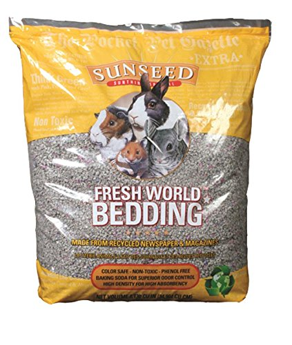 Sun Seed Company SSS18222 Fresh World Small Animals Phenol Free Paper Bedding, 2130 Cubic Inch, Gray