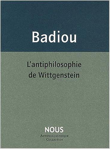Livres gratuits en ligne L'antiphilosophie de Wittgenstein pdf ebook