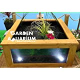 Raised Square Garden Fish Pond With Viewing Window (700 Litres) U2026