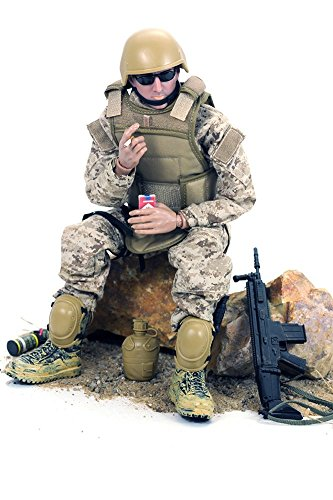 Baellar 12'' Special Forces Action Figure - Digital Desert Camouflage